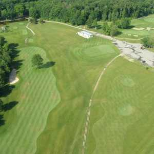 Links at Bowen Lake: aerial view