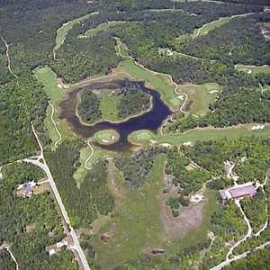 Rock At Drummond Island: Aerial view