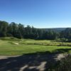 A view of the 18th hole and fairway at True North Golf Club.