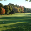 A fall view from a tee at Indian Trails Golf Course.