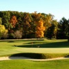 A view of the 10th green protected by tricky bunkers at Radrick Farms Golf Club