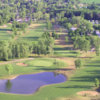 Aerial view of the 8th hole at Holiday Meadows Golf Course