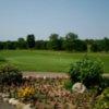 A view of green #18 at Prairie Creek Golf Course