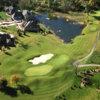 Aerial view of green #12 at Stonebridge Golf Club