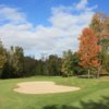 A view of the 18th fairway at Hidden Oaks Golf Course