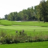 Sylvan Glen: View from the green of the par-5 finishing hole - longer hitters can reach in two shots but must be careful not to stray at the green