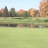 A view of the 1st hole at Mullenhurst Golf Course