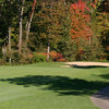An autumn view of the 16th hole at Gull Lake View Golf Club and Resort - Bedford Valley Course