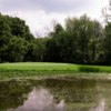 A view of a green with water coming into play at Belle River Golf & Country Club