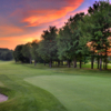 Sunset view of the 9th hole at Gaylord Country Club