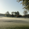 Morning view of a green at Winding Creek Golf Course