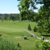 A sunny day view from Berrien Hills Golf Club.