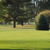 A view of a green at Burr Oak Golf Course