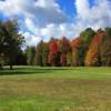 A fall view of a hole at Tanglewood Marsh Golf Course