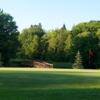 A view of a green and a bridge at Wyandotte Hills Golf Club