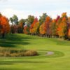 Fall view of the 17th hole and fairway at The Quest Golf Club