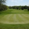 A view of a green at Cascades Golf Course
