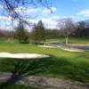 A view of a well protected green at Washtenaw Golf Club
