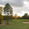 A fall day view of a hole at NMU Golf Course.