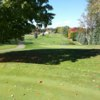 A fall day view of a green at Marywood Golf Club.