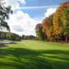 A fall day view of a fairway at Springfield Oaks Golf Course.