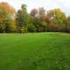 A view of a well protected green at Indian Run Golf Course.