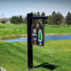 A view of tee #10 sign at The Pines at Lake Isabella.