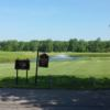 A view of tee #1 and #10 sign at Woodlands of Van Buren.