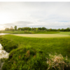 A view of areen with water coming into play at Quail Ridge Golf Club.