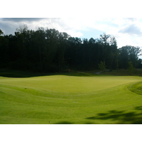 The greens are huge and sloping at Eagle Eye Golf Club in Bath, Michigan.
