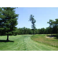 The first hole at Pilgrim's Run Golf Club in Pierson, Mich.