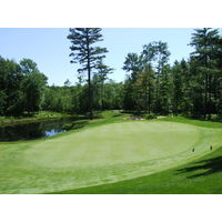 The second hole at Pilgrim's Run Golf Club in Pierson, Mich.