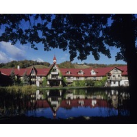 The Alpine-style lodge at Boyne Highlands is where most golfers stay when playing the four courses at the resort.