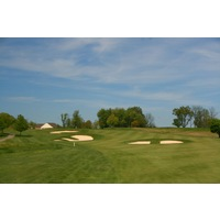 The Orchards Golf Club's 15th hole is a long, uphill par 5.