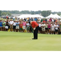 Jack Nicklaus, designer of Harbor Shores, wowed spectators on the greens during Champions for Change.