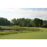 Black Lake Golf Club features a mix of dense forest and some wetlands on holes like No. 6.