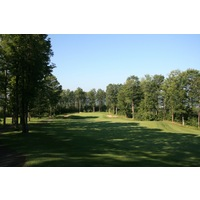 The third hole on the Legend golf course at Shanty Creek Resorts is a dogleg right par 4.