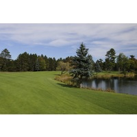 The first hole on the Monarch Course at Garland Lodge and Resort requires both distance and accuracy off the tee.