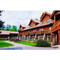 Garland Resort features a mix of accommodations in both cottages and in the main lodge.