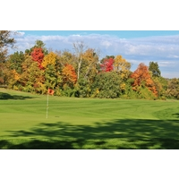 The sixth hole is a strong par 4 on the West Course at Warren Valley Golf Club in Dearborn Heights, Michigan.