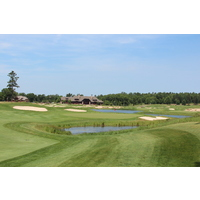 The eighth hole is one of the more demanding par 4s at Forest Dunes Golf Club in Roscommon, Michigan.
