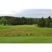 At 243 yards, the 15th hole is the longest par 3 at the Hidden River Golf & Casting Club in northern Michigan.