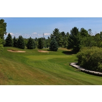 From the tips, the slope of the Cutters' Ridge golf course at Manistee National soars to 149, quite possibly the highest in the state of Michigan.