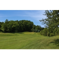 The first hole on the Cutters' Ridge golf course at Manistee National is a gentle starter.