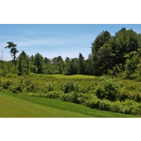 It's easy to lose a ball on the 13th hole the Cutters' Ridge Course at Manistee National Golf & Resort.