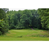 Thoroughbred Golf Club's 11th hole is another par 3 that plays downhill.
