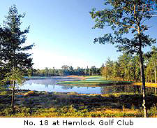 No. 18 at Hemlock Golf Club