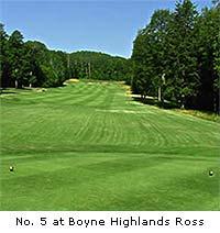 Donald Ross Memorial course at Boyne Highland (Harbor Springs)