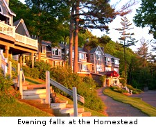 Evening falls at the Homestead