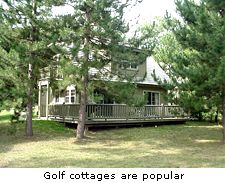 Golf cottages are popular